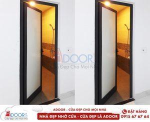 cửa nhôm màu đen