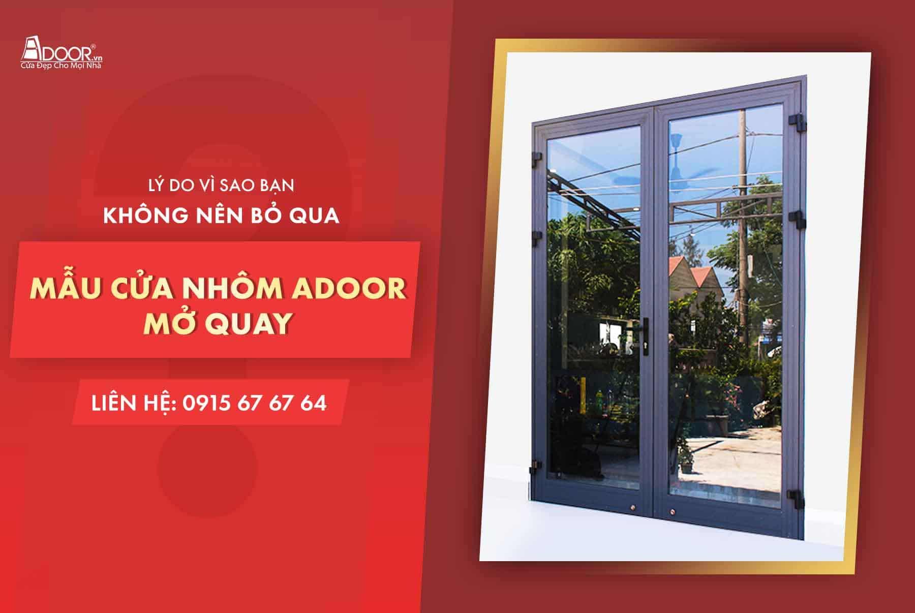 lý do nên chọn cửa nhôm Adoor