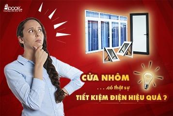cửa nhôm có tiết kiệm điện hiệu quả?