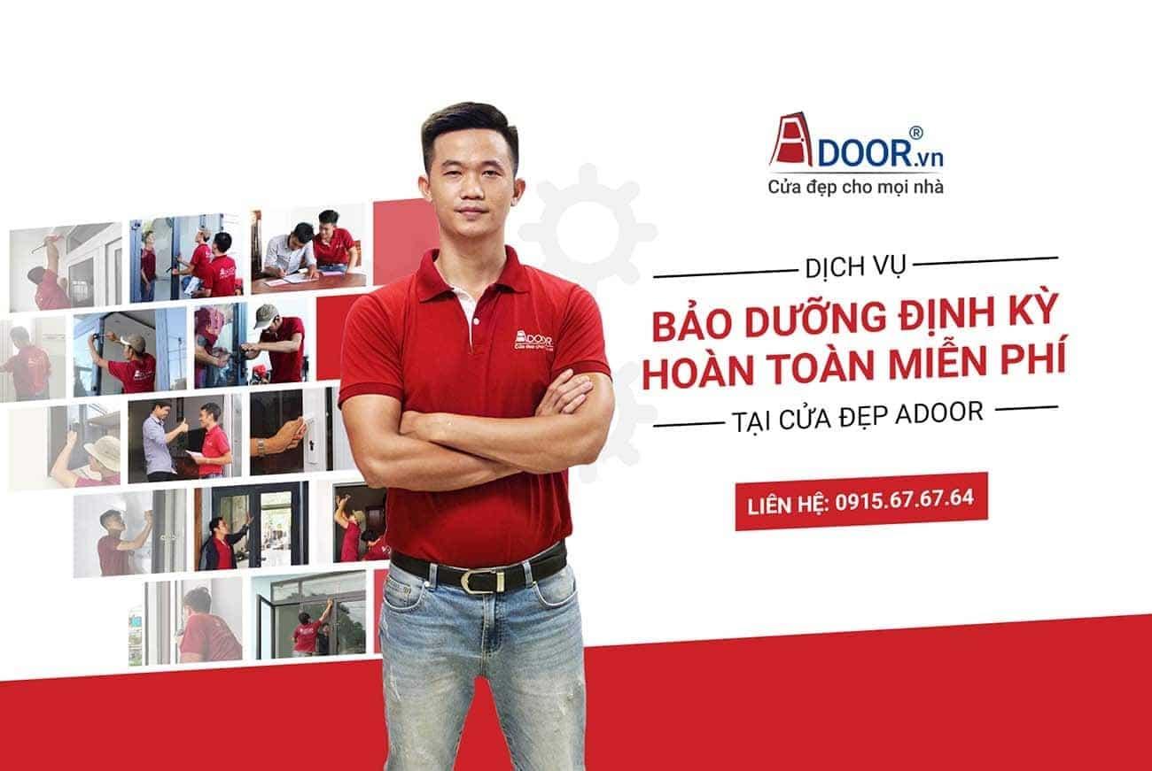 Adoor làm cửa nhôm Xingfa tại TP.HCM với dịch vụ bảo dưỡng miễn phí