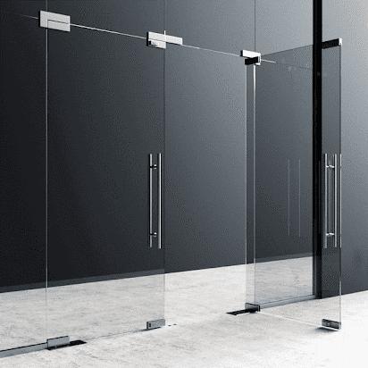 Với thiết kế cửa toàn kính mang phong cách sang trọng hiện đại cho căn phòng