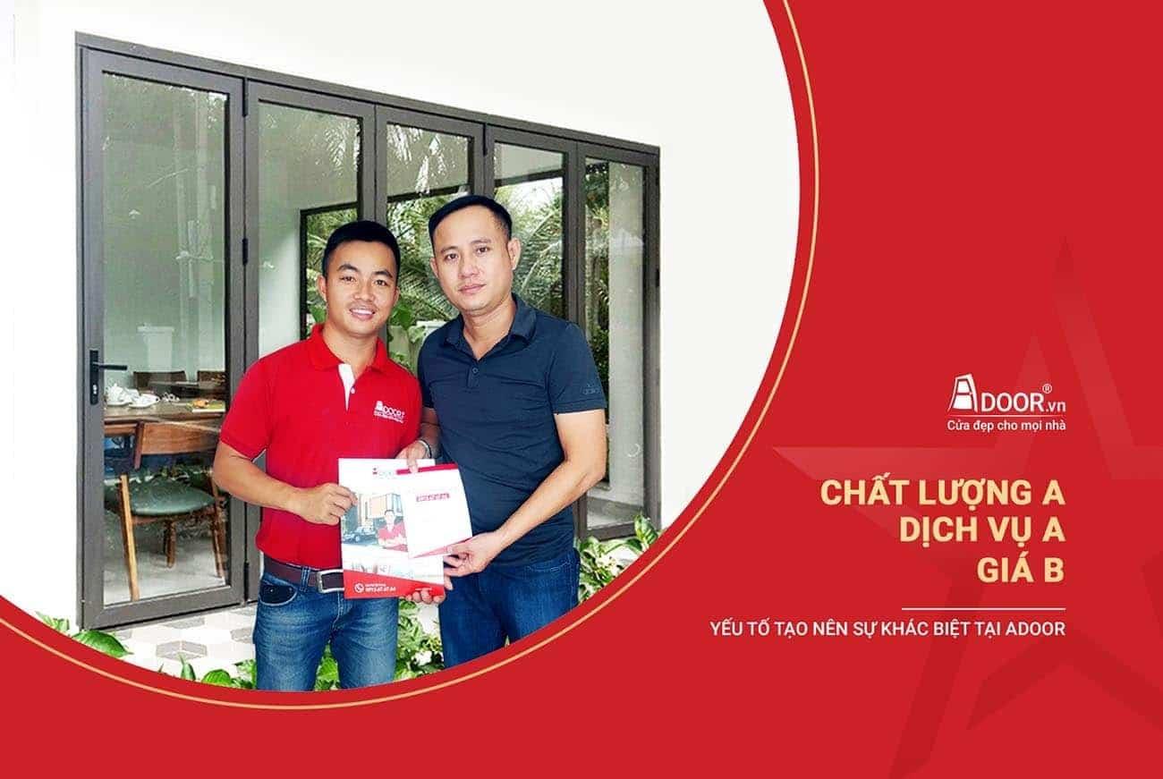 Adoor cung cấp cửa nhôm Xingfa giá rẻ chất lượng A, dịch vụ A, giá B