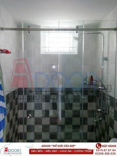 Mẫu cửa kính cường lực tại các phòng tắm