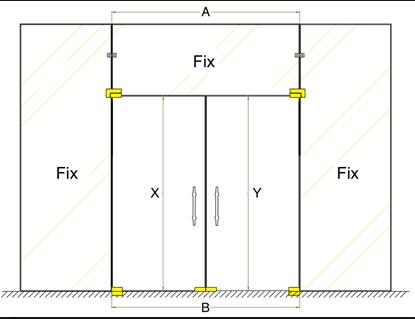 Mẫu thiết kế cửa kính cường lực mở quay