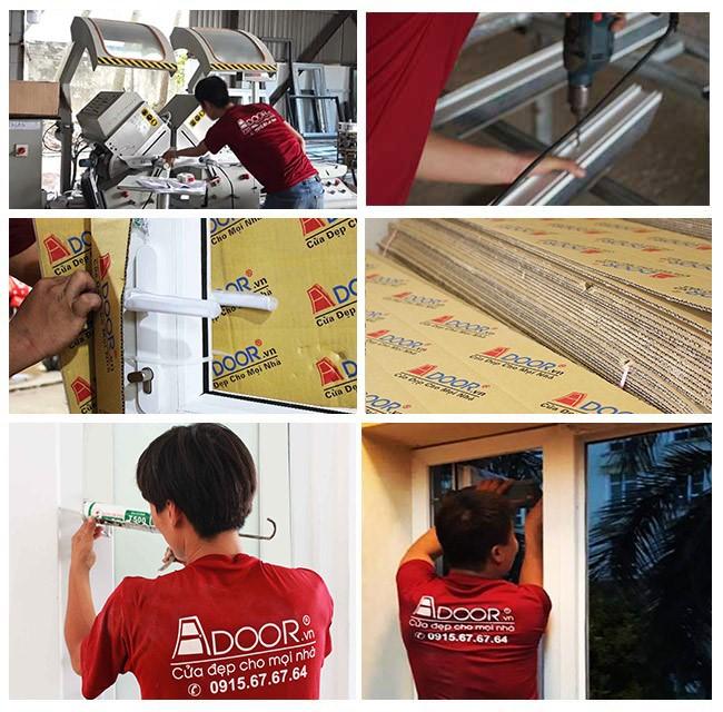 Quy trình thi công lắp đặt được diễn ra chặt chẽ, chuyên nghiệp tại các công trình