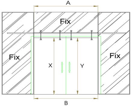 Mẫu thiết kế cửa kính cường lực mở lùa