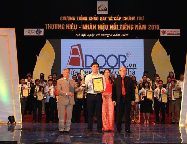 Adoor thương hiệu Việt Nam Vàng chất lượng năm 2016