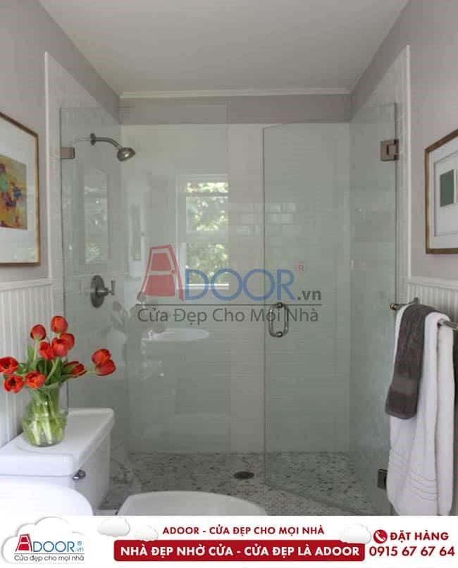 Mẫu phòng tắm với cửa kính cường lực đẹp nhất 2020
