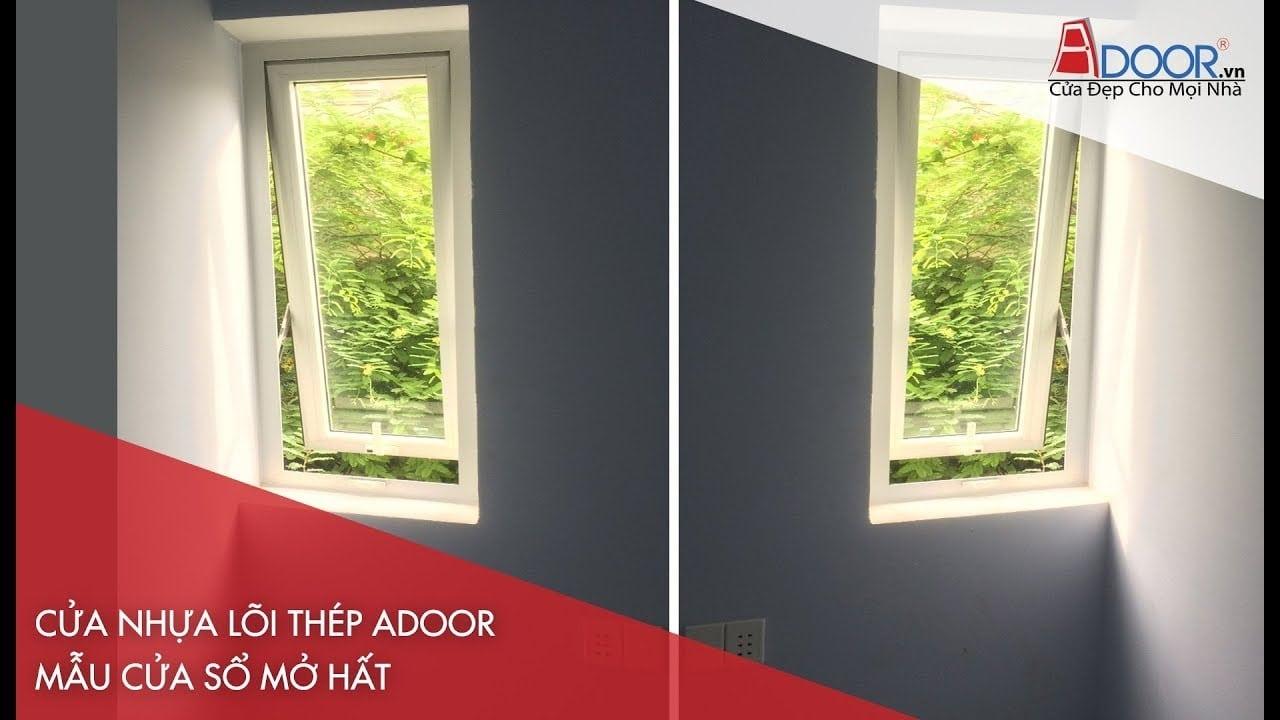 Mẫu cửa sổ mở hất với thiết kế tinh tế cho các công trình