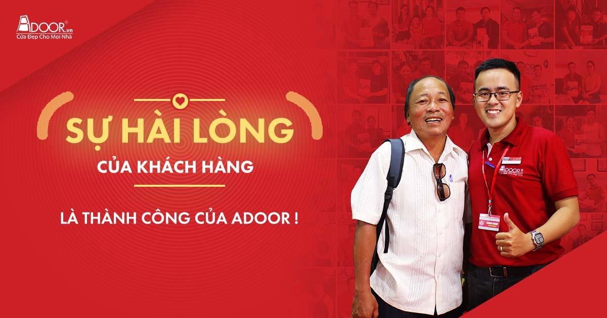 Adoor xem trọng sự hài lòng của khách hàng qua quá trình làm cửa nhựa lõi thép tại Đà Nẵng