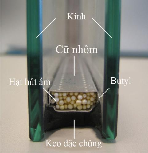 Cấu tạo kính 2 lớp dán keo