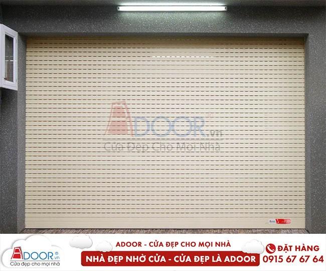 Mẫu cửa cuốn khe thoáng được sử dụng nhiều tại Adoor