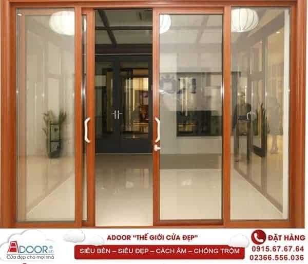 Sản phẩm cửa nhôm kính Adoor đẹp bền ngoài, chắc bên trong