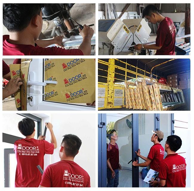 Lắp đặt thi công cửa nhựa lõi thép đảm bảo quy trình