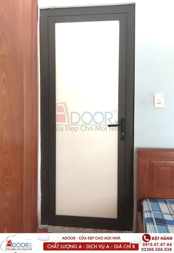 Mẫu cửa nhựa lõi thép 1 cánh tại các phòng ngủ