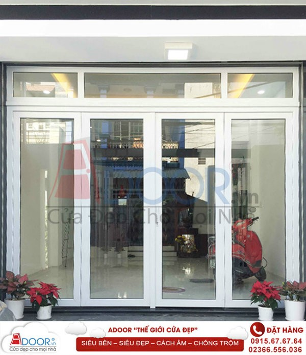 Sang trọng và an toàn, cửa nhựa lõi thép tại Phú Yên làm cửa mặt tiền